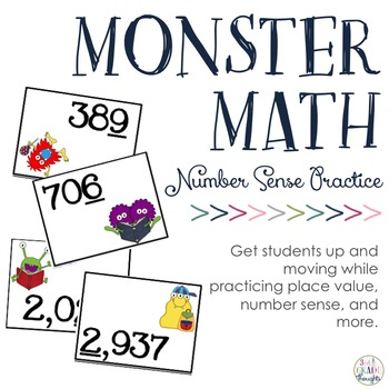Practicing Rounding, Even/Odd, Number Lines & More: Number Sense Monsters