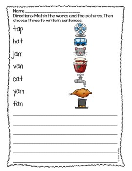 Short Vowel Practice for Grades K-2