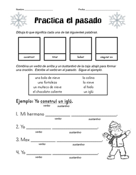 Practicing Spanish Past Tense with Winter Vocabulary