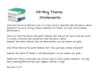 Practicing Theme Statements