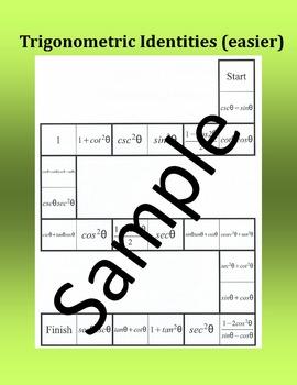 Practicing Trigonometric Identities (easier) - Dominoes