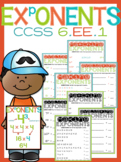 Exponent Worksheets + Poster - Printable or PowerPoint Dig