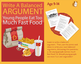 Practise Writing A Balanced Argument: Young People Eat Too Much Fast Food (9-14)