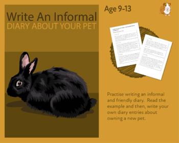 Practise Writing An Informal Diary On Your Pet (Information Writing Pack) 9-14