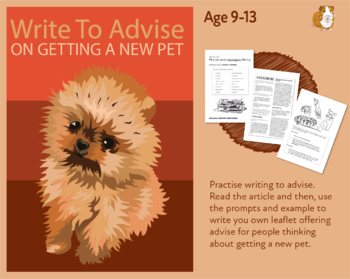 Practise Writing To Advise On Getting A Pet (Information Writing Work Pack) 9-14