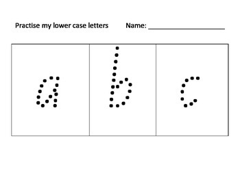 Practise my Lower Case Letters Multiple Pages NSW Foundation