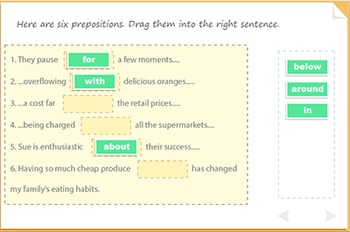 Practise prepositions