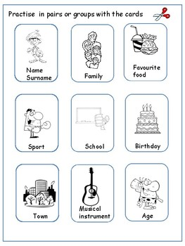 English activity. Practise  your speaking . Practica hablar en inglés.