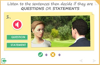 Practising speaking skills- statements and questions