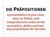 Präpositionen Notizen - Prepositions Notes