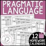 Pragmatic Language Homework Middle School High School Speech Therapy
