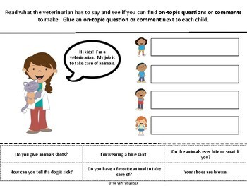 Pragmatic Language On Topic Off Topic CLASSROOM VISITORS Occupations Social