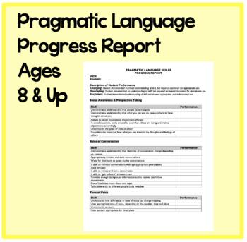 Pragmatic Language Progress Report