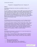Pragmatic Language Resources: III