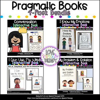 Pragmatic Social Skills Interactive Book BUNDLE - NO VELCRO