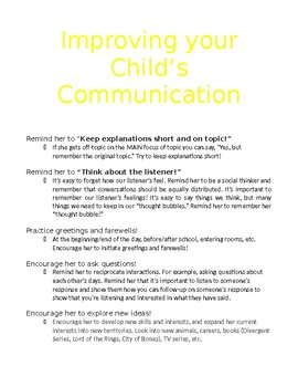 Pragmatic parent info