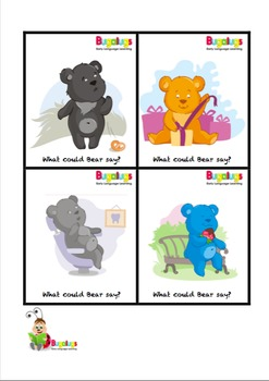 Pragmatics Intermediate-High Level Comprehension Feelings Flashcards -Predicting