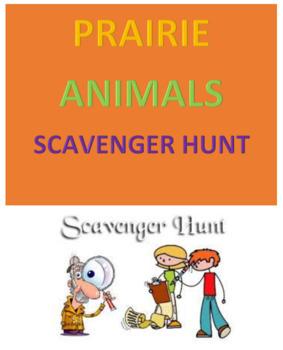 Prairie Animals Scavenger Hunt