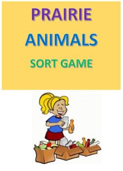Prairie Animals Sort Game