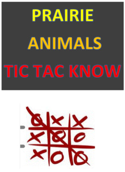 Prairie Animals Tic Tac Know