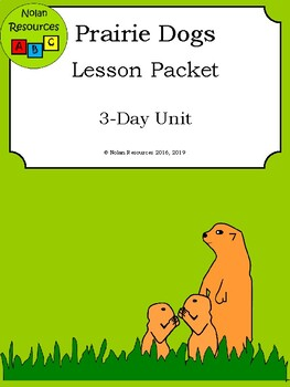 Prairie Dogs Lesson Packet