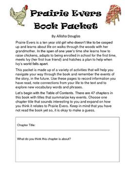 Prairie Evers Book Club Packet