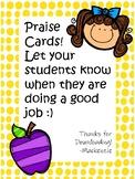 Praise Cards!!!