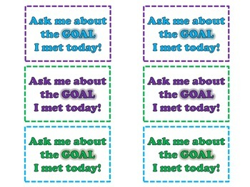 Praise Cards for Student Goals