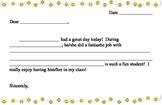 Praise & Discipline Letter Template