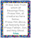 Praise God From Whom All Blessings Flow Poster. Prayer, Bl
