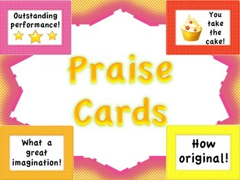 Praise Mini-Posters/Praise Cards