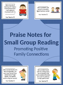Praise Notes for Small Group Reading