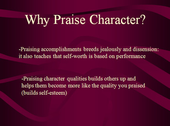 Praise Projects: Influencing others by bringing out the best in them and you.