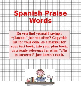 Praise Words SPANISH