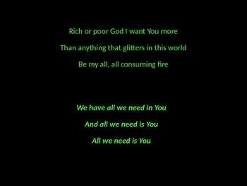 Praise & Worship Song Lyric Power Point