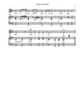 Praise Ye The Lord Sheet Music
