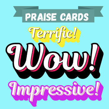 Praise cards for students - Printables