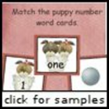 Prancing Puppy Number Words