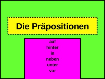Präpositionen (Prepositions in German) PowerPoint