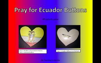 Pray for Ecuador Buttons
