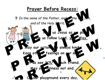 Prayer Before Recess Poster