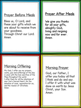 Prayer Cards Free With Editable Card Page