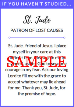 Prayer Cards for Tests