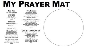 Prayer Dinner Mat 8.5 x 14