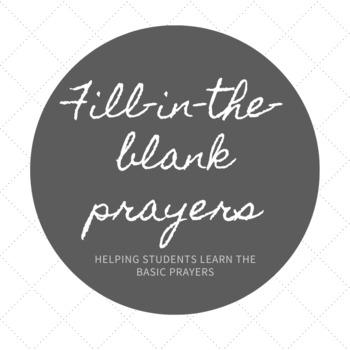 Prayer Fill In Resources