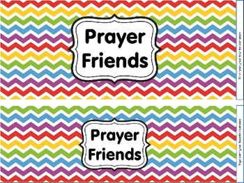 Prayer Friends - {A colorful resource for incorporating prayer into your class!}