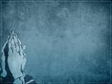 Prayer Hands PowerPoint Background Image