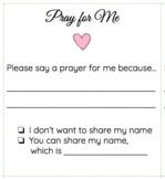 Prayer Intention Slips