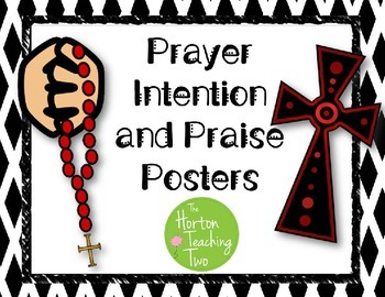 Prayer Intention and Praise Posters