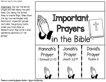 Prayer Interactive Notebook